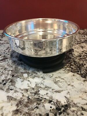 """Sheffield Silver Co., Made in USA  7 1/4"""" Round Silver Plate Pan/Dish/Bowl #1152"""