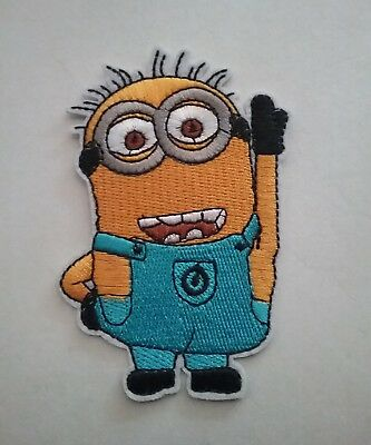 DIY  Minions Embroidered Patch Applique Badge Iron-on/Sew On  9X 6cm