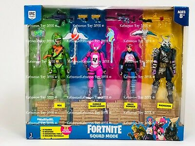 Fortnite Squad Mode 4 Action Figure Pack A Boxed Set Toy Gift 17pc by Epic Games