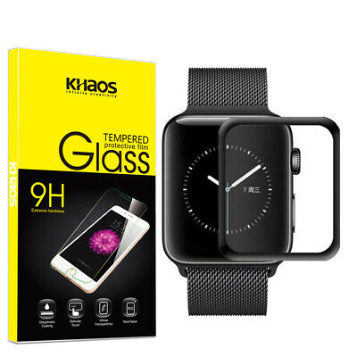 Khaos For Apple watch4 40mm 3D Full Cover Tempered Glass Screen Protector -Black