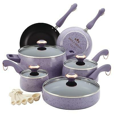 15 Piece Kitchen Cookware Set Ceramic Nonstick Pots And Pans Cooking Set