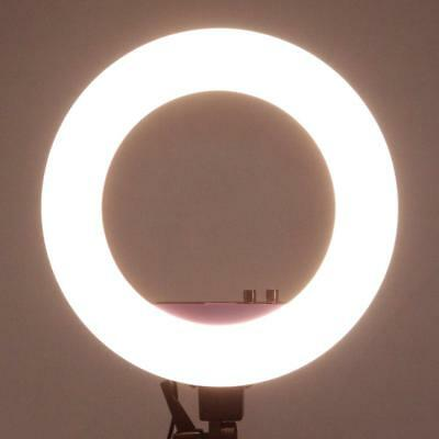 """18"""" LED Ring Light 50W 5500K Dimmable Continuous Lighting Photo stand Useful"""