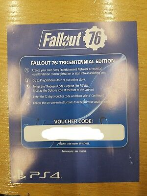 Fallout 76 Tricentennial Pack DLC PS4 code only NO GAME