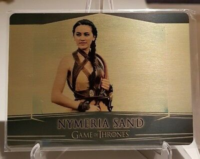 Game of Thrones Valyrian Steel NYMERIA SAND Gold Metal Base Card /100
