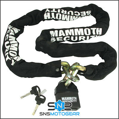 Mammoth 12mm Hexagon Motorcycle Motorbike Security Lock And Chain - 1.8m