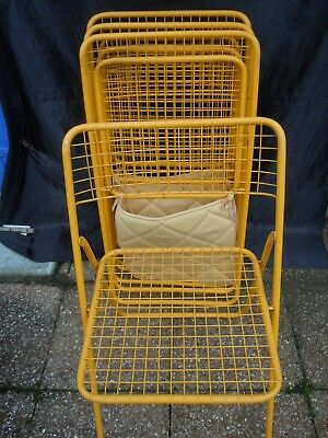 Chaises Bertoia Vers 1970 Pliante Dlg Emu Frederico Lot Jaune Giner Grillage 1TFKlc3J