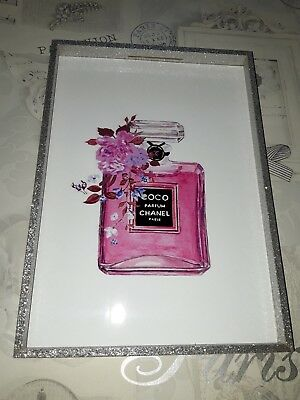 Coco Chanel Perfume Wall Art Poster Print Fashion Designer Perfume No5 Bottle