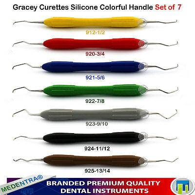 Dental Scaling Gracey Curette Curettage Gingival Scaler Calculus Silicon Handle