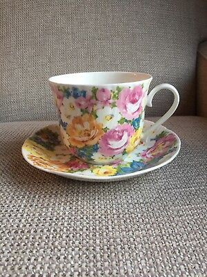 Roy Kirkham Petite Fleur Breakfast Cup And Saucer