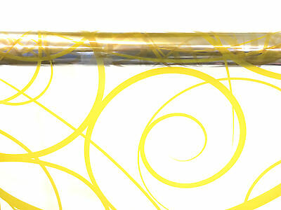 Gold Swirl Cellophane Wrap 1M - 100 Meters  - Choose Your Length