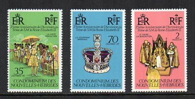New Hebrides (French) - 1978, 25th Anniv. of the Coronation of Q.E. II, MNH