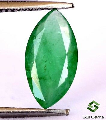 Certified Natural Emerald Marquise Cut 10.50x5.50 mm 0.96 Cts Untreated Gemstone