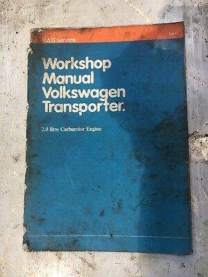 Volkswagen transporter Workshop Manual Type 2 Baywindow Aircooled 1979 Type 4
