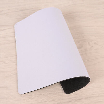 White Fabric Mouse Mat Pad High Quality 3mm Thick Non Slip Foam 26cm x 21cm ODHN