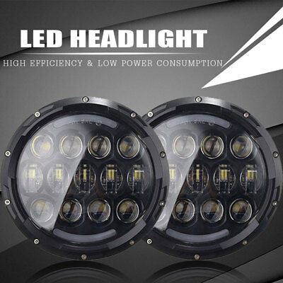 7 Inch Round LED Headlights DRL Turn Signal  for 1997-2018  Jeep Wrangler JK JKU