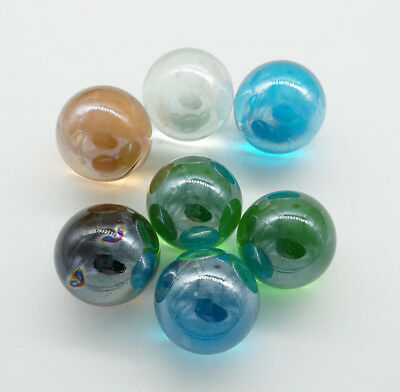 10pcs 25mm Mix Colors Glass Beads Marbles Kid Toy Fish Tank Decorate
