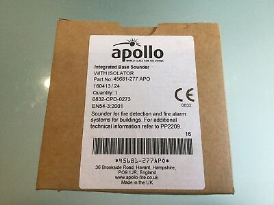 Apollo 45681-277 Apo Integrated Base Sounder With Isolator