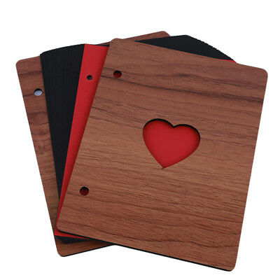 6 inch Wooden Photo Album Love Manual Loose-leaf Pasted Baby Lovers Album N7