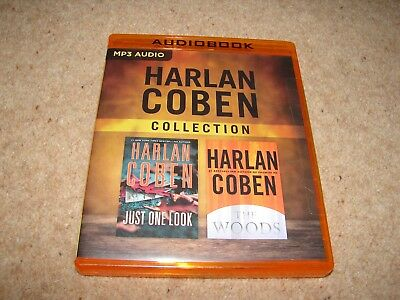 TWO * Harlan Coben Unabridged MP3 CD Audio Books - Just One Look & The Woods NEW