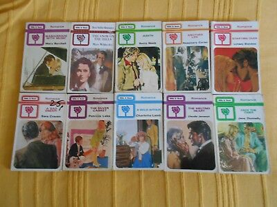 10 Mills & Boon vintage 'White Rose' series romances/books job lot/bundle