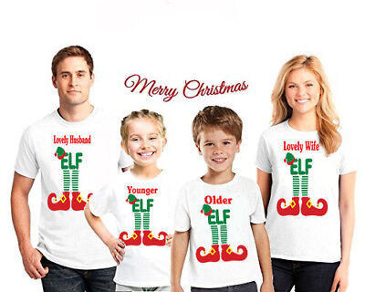 ELF Daddy Mommy Little ELF Doo Doo Christmas Family Matching Santa ELF T-shirt