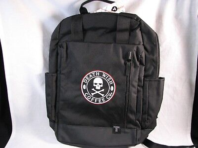 Death Wish Coffee Limited Edition Backpack - Black - Sold Out - New