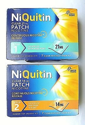 Niquitin 7 Patches Nicotine 24 Hour  - Various, 1  -  2  - 3 - Pre-Quit