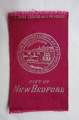 c1910 Egyptienne Luxury Tobacco Silk Cities Series-City of New Bedford