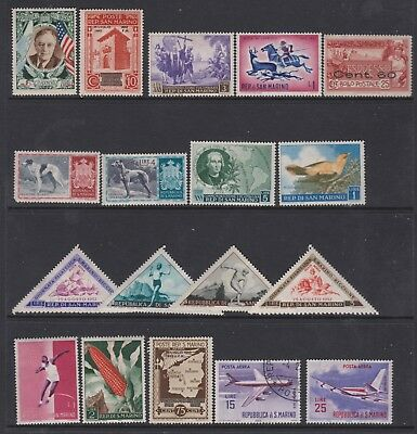 San Marino Mint and Used Stamps