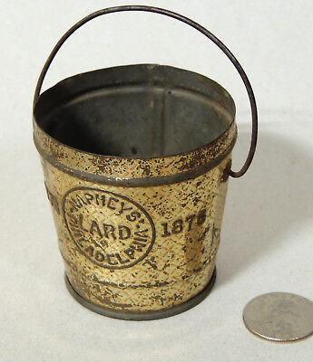 1876 Centennial Antique vtg MINIATURE Lard TIN Naphy's Philadelphia SEWING KIT