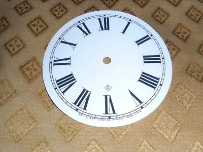 "For American Clocks-Gilbert Paper Clock Dial-4"" M/T-Roman-MATT WH - Parts/Spares"