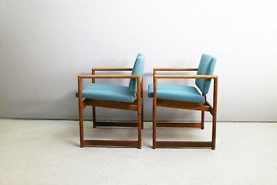 1960's Danish mid century oak chair / 4 available (stained)