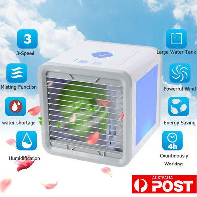 Portable 3 in 1 Air Cooler Ice Water Conditioner Evaporator USB Rechargeable Fan