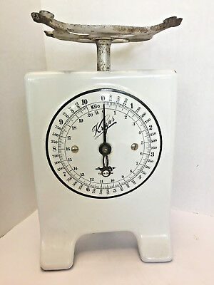 Antique Krups White Porcelain Kitchen Scale