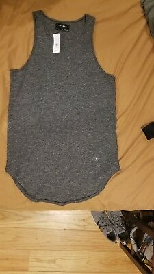 57ccb2c87c855 BRAND NEW PACSUN Mens Longer Fit Tank Top Gray  Black Size S Pacific ...