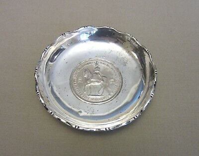 British Sterling Silver Bowl with Inset 5 Shilling Coin--60 gr