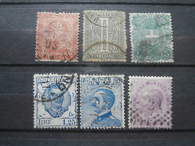 Old Italian stamps used some hinged