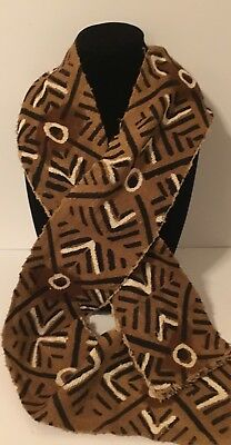 New! Handmade African Mudcloth Scarf