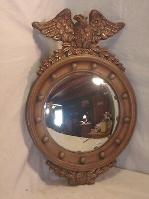 Antique convex EAGLE frame with mirror 15 3/5 round mirror 11 1/2 round