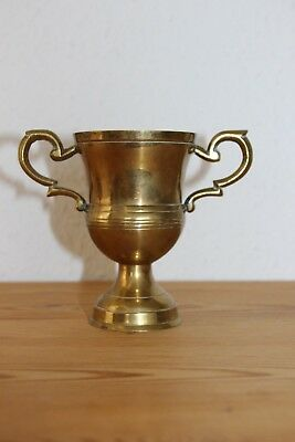 Messing Pokal Trophäe Vase Becher Kelch RAR