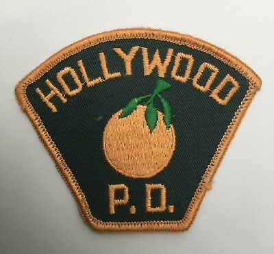 Hollywood Police Dept, Florida old cheesecloth shoulder patch