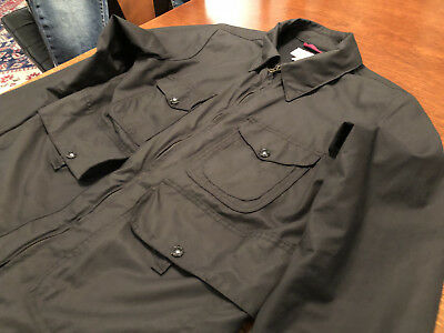 FILSON BELL BOMBER BLACK JACKET COAT  MADE IN USA S Small MENS excellent