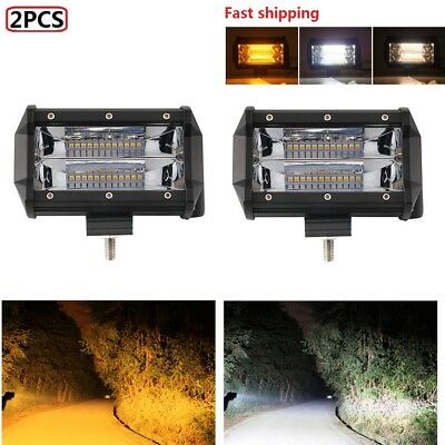 "2x 5""INCH LED Work Light Bar Flood Pods Driving OffRoad Tractor 4WD Fog Lamp 12V"