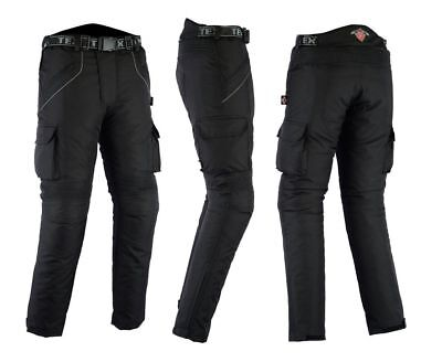 "Texpeed Black Waterproof Armoured Motorcycle MENS WAIST 34 LEG 32"" CR171 DD 01"
