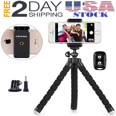 Phone Tripod Stand Octopus Portable Adjustable Camera Phone Holder Clip Remote