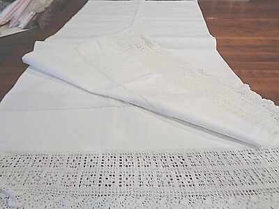 Antique Handmade 100% linen large bolster-pillow cover