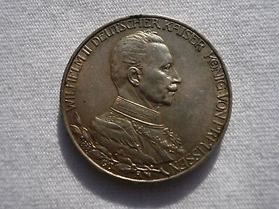 1913 PRUSSIA Silver 3 Mark Reign Jubilee German Coin