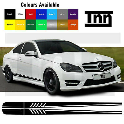 AMG C63 Edition 1 Side Stripe Decals Stickers Mercedes Benz C Class W205
