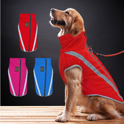 Big Dog Waterproof Clothes Reflective Warm Pet Puppy Coats Jacket for Large Dogs