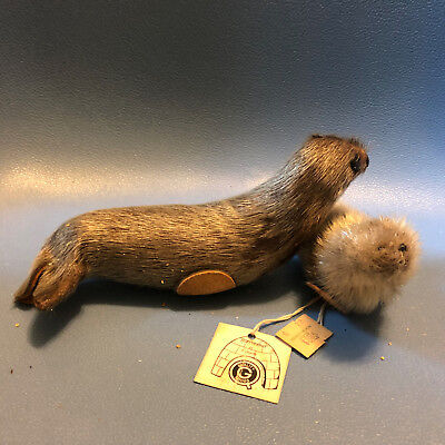 Vintage Quality Goods Seal Souvenirs Real Fur Made in Canada Vacation Inuit Tags